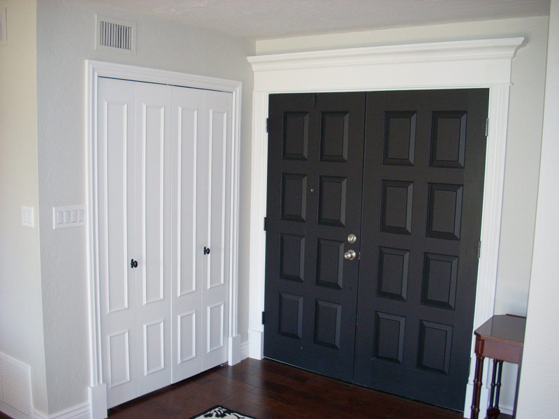 Custom black front door