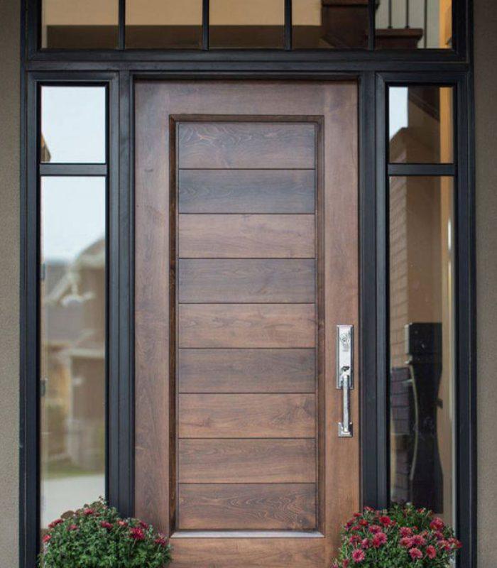 Custom brown front door